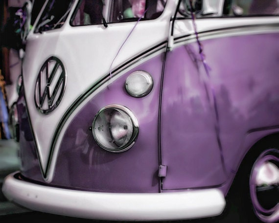 Radiant Orchid Instant Download Digital Download Photography Vintage VW Volkswagon Bug Bus Purple Commercial Use Graphics