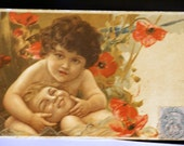 French Valentine Postcard early 1900's