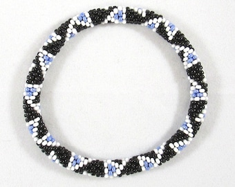 Tribal Council Bead Crochet Bangle