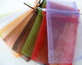 organza gift jewelry bags assorted colors 3x5 party wedding favors jewelry gift wrap 12pc drawstring bag