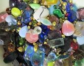 10 gram vintage rhinestone mix, assorted pointed back stones (2mm-30mm) 1/2 Price sale DESTASH SALE