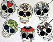 DOTD Sugar Skull Tattoo Flash Bunting Ornaments Decoration Original Folk Art DIY