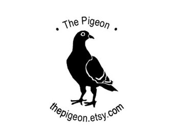 pigeon bird custom Rubber Stamp