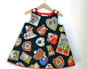 Valentine Love Letter Newborn, Baby, Toddler Pre-School Girls Dress | Vintage Valentine's Day Card Holiday Frock | Sizes Newborn to Girls 4T