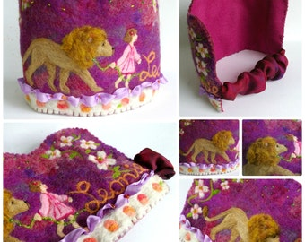 Waldorf Birthday Crown : Felted Wool Crown, Custom Made (DEPOSIT for Custom Order)