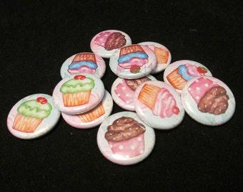 15 Cupcake Buttons