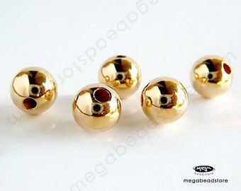 6 pcs 7mm 14K Gold Filled Round Beads Spacers B39GF
