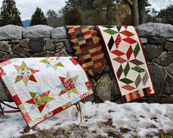 PDF Patchwork Table Runner Pattern....three different projects, Quick and Easy...ONE Charm Square Pack or Scraps, Charmed Again