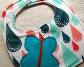 Butterfly in the Rain Bib