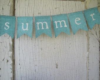 summer.... Burlap Banner