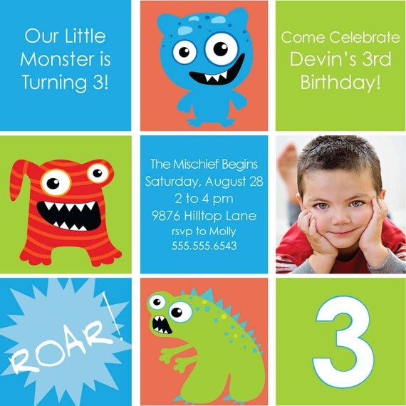 Birthday Party Invitation Photoshop Template or DIY Printable ...