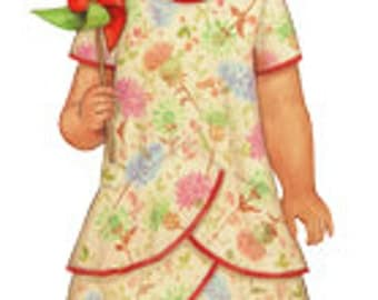 20% Off! Oliver and S PATTERN - Pinwheel Tunic and Slip Dress - Size 6M-4