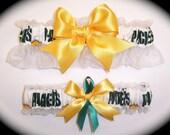 Green Bay Packers Wedding Garter Set Handmade Keepsake and Toss Bridal gf1