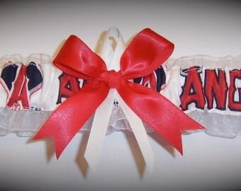 Los Angeles Angels Wedding Garter   Handmade  Toss   LA  Bridal rw1
