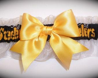Pittsburgh Steelers Wedding Garter   Handmade  Keepsake   Bridal gb1