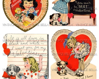 Vintage 1930s Little Girl Valentine Digital Download 330 - by Vintage Bella