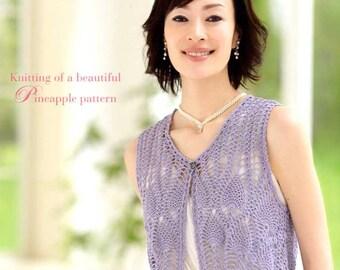 Knitting of a beautiful PINEAPPLE Pattern (Crochet) - Japanese Craft Book