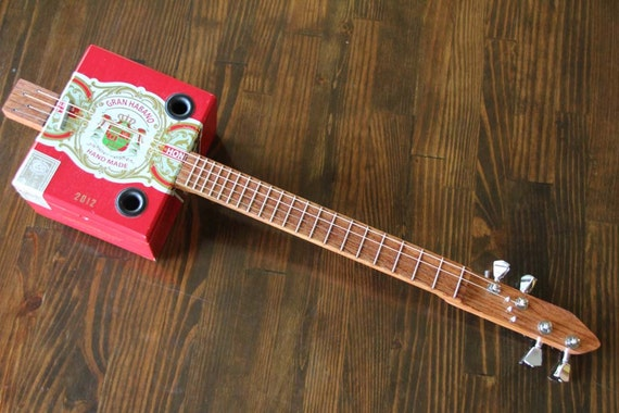 Mini cigar box guitar 4 string by monkeypox on etsy