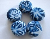 Frost Flowers Handmade Polymer Clay Beads Supplies