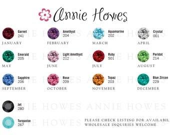 Swarovski Birthstone Chatons rhinestones. 20 pack. Choose your colors. Xirius 1088 PP 24 CRYSTAL F