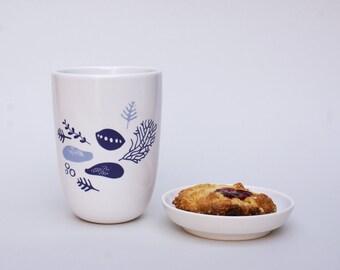 Ceramic cup - coral - sea level