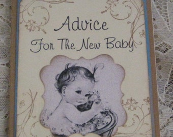 Baby's Journal Moleskine ruled Notebook Advice For The New Baby