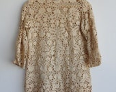 Wearable antique lace long sleeve vintage tunic mini dress
