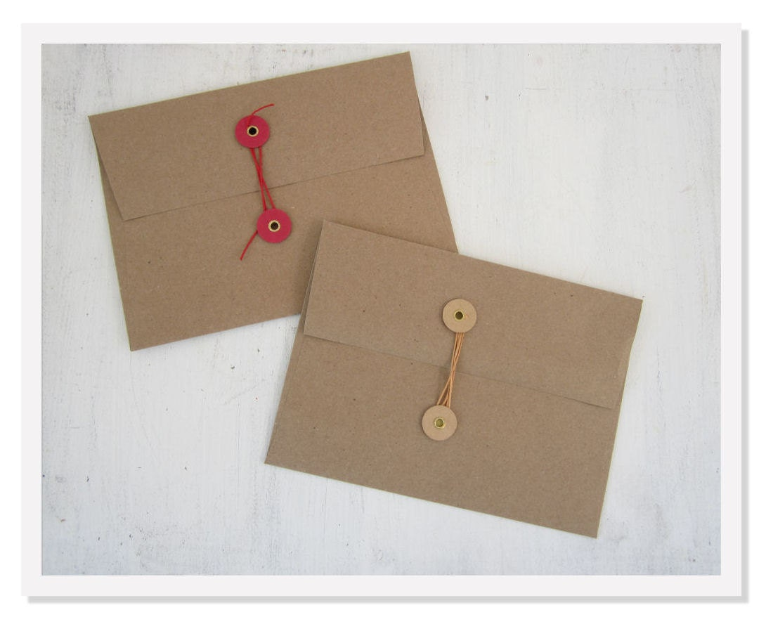10 Button Amp String Envelopes Kraft Envelopes By