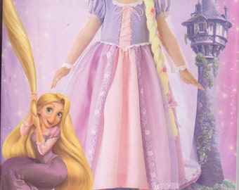 Simplicity 2065 Disney Rapunzel Costume Sewing Pattern Tangled Sizes 3-8 Renaissance Princess New and Uncut