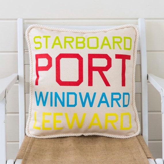Sailing Terms Pillow - Wind Terms
