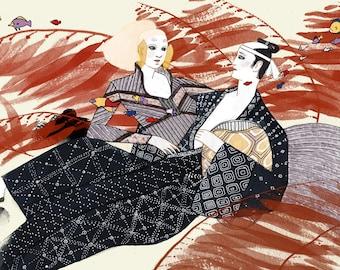 """5 x 7"""" Urashima Taro print"""