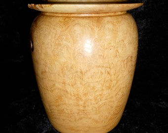 Cremation Urn, smaller size stash jar of Black Locust burl, 'O' ring seal lid, FREE SHIPPING