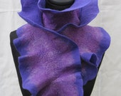 Flamenca Felted Scarf - Purples Reversible