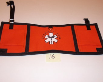 Therapy Dog Vest, fits 20 to 30 lb dog