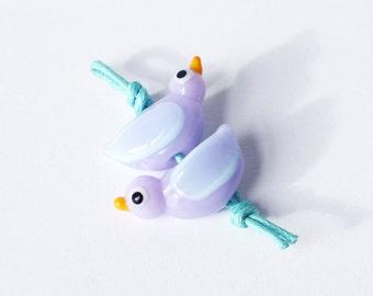 Pink Bird Earring set
