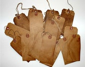 25 Small Grungy Vintage Primitive Hang Tags For Scrapbooking Cards Crafts Gifts
