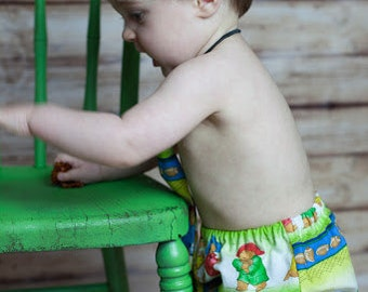 Little Boys,  Necktie and Matching Diaper Cover Set Paddington Bear Multi Color Photography Prop, Dressy
