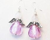 Angel Earrings Pink Angel Earrings Pink Earrings  - E2013-08