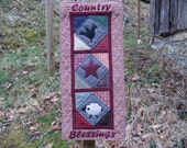 wall hanging primitive country theme-Country Blessings