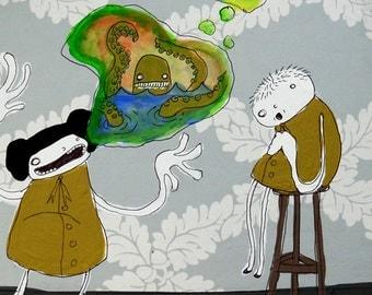 The Storyteller - PRINT - Various Sizes