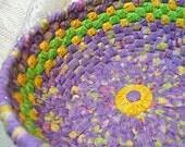 Handmade Spring Pastel Rag Basket Bowl