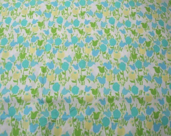 """Lilly Pulitzer """"BLISS BLUE TIPTOE""""    fabric  17 inch by 18 inch"""