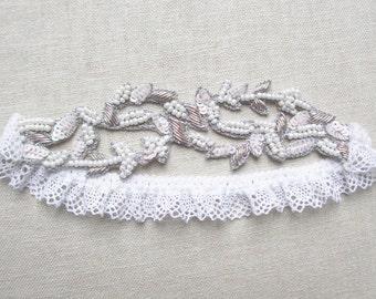Aphrodite beaded garter white