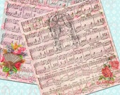 Buy 1 Get 1 Free Vintage Music Sheet Shabby Collages Stationary Vintage Digital Clipart No.1 Scrapbooking Graphics INSTANT Download