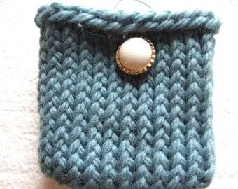 Slate BlueTeal  Wool  Mini bag