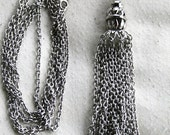 Vintage 1960's Silver Chain Tassel Necklace