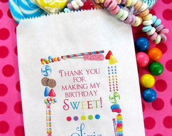 Personalized Candy Bags, Candy Sprinkle, Favor bags, Candy Favor bags, Candy Party favors,Candy Buffet, Birthday party, Sweets, Treats