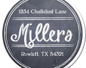Personalized Stickers -- Chalkboard -- Personalized Canning Labels, Personalized Preserves Label -- Choice of Size
