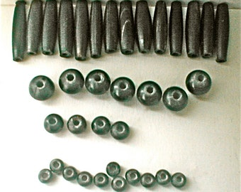 Vintage Horn Beads - Tubes and Rounds Supplies