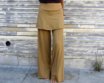 ORGANIC Simplicity Mini Skirted Pants - ( light hemp and organic cotton knit ) - organic hemp pants